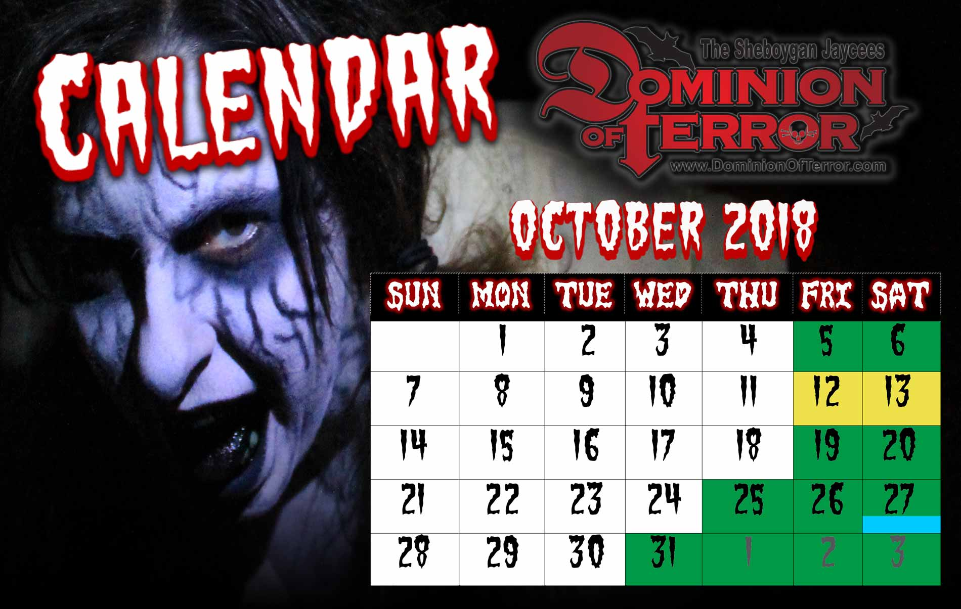 Dominion of Terror Calendar